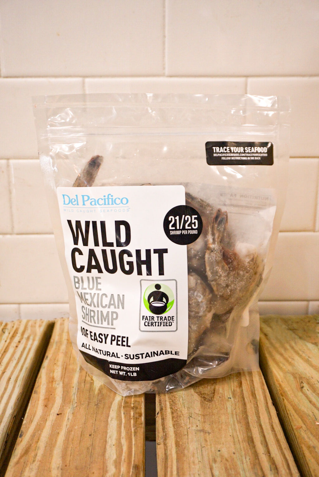 Wild-Caught Shrimp (Shell-On) 1 Pound Freezer-Friendly Bag