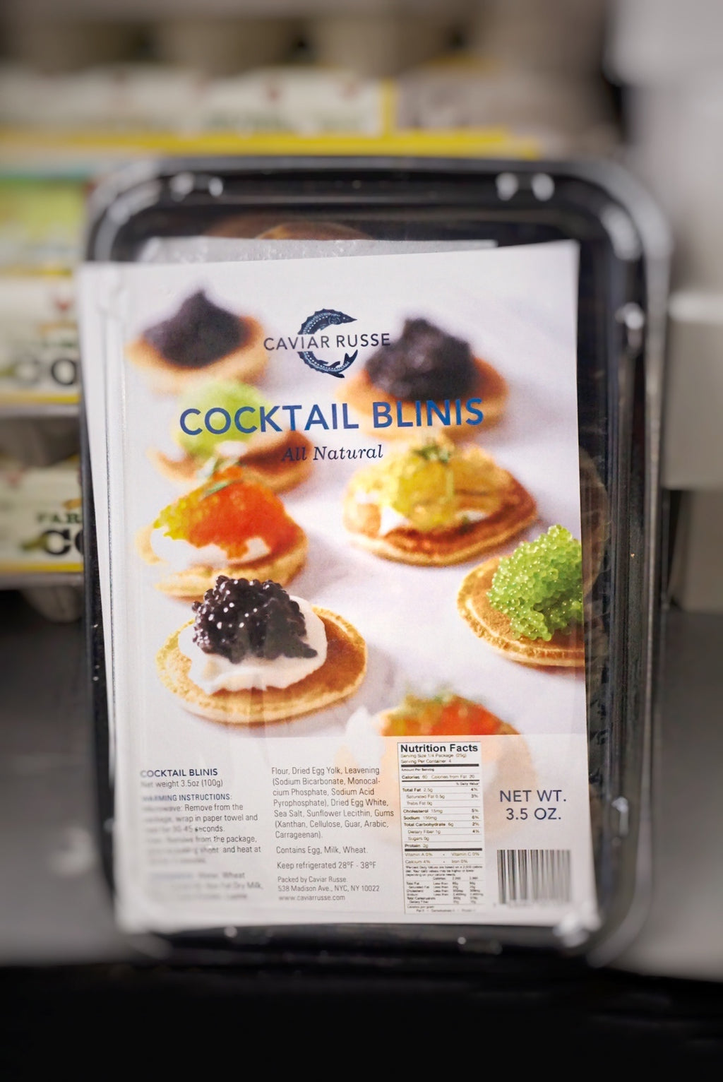 Caviar Russe Cocktail Blinis - Delivery