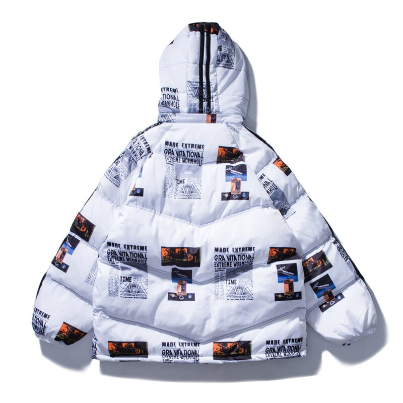 SS 'Made Extreme' Hooded Puffa Jacket (White/Black)
