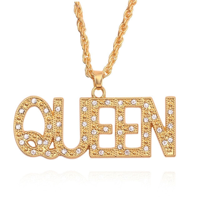 Gold 'Queen' Necklace