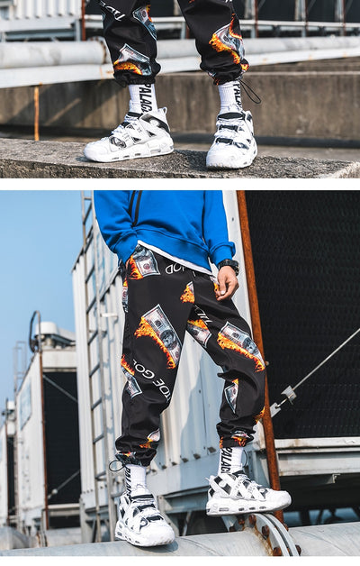 'Flaming Money' Joggers