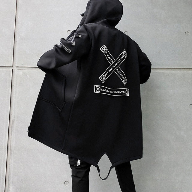 SS 'WILH/WLTH' Long Jacket (Black/White)