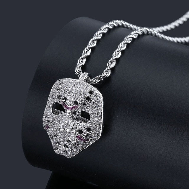 Hockey Mask Necklace (Gold/Silver/Bronze)