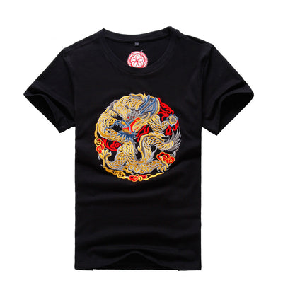 Embroidery Dragon T Shirt