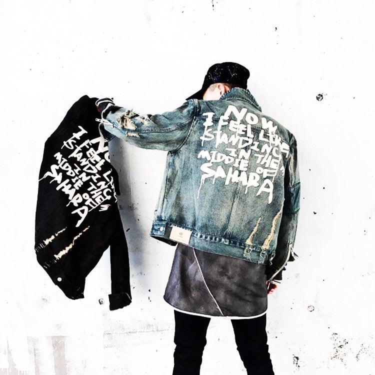 SS 'Sahara' Distressed Denim Jacket