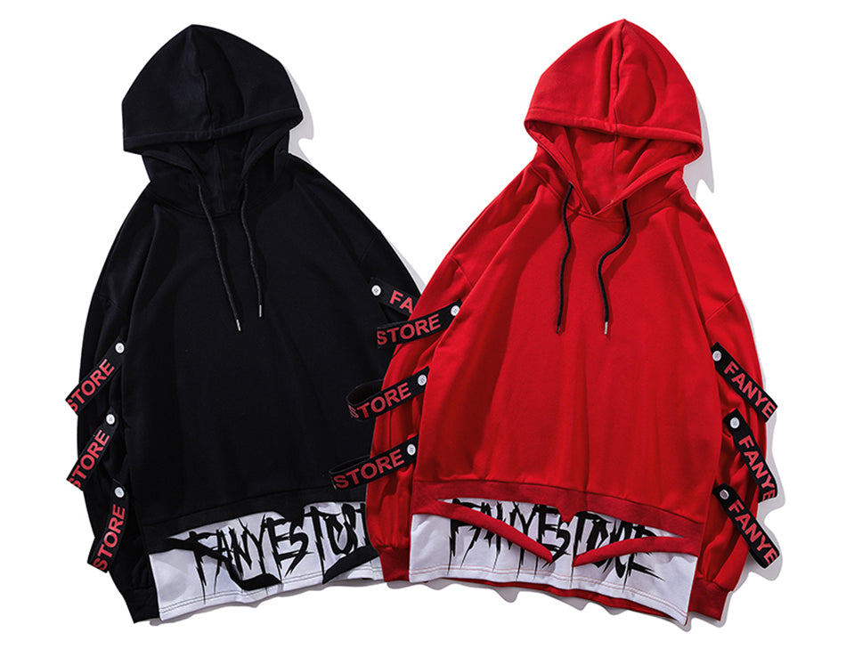 SS 'FANYE STORE' Hoodie (Red/Black)