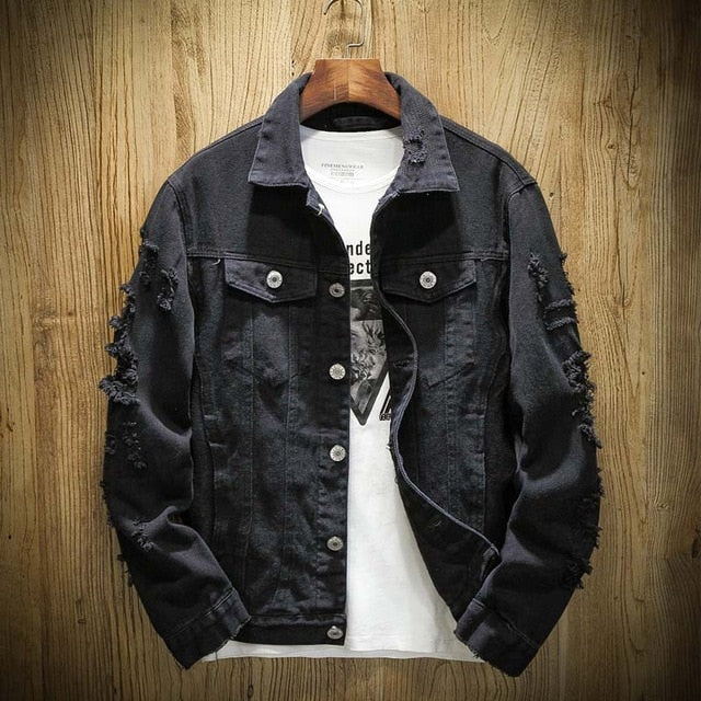 SS 'Distressed' Denim Jacket (4 Colours)