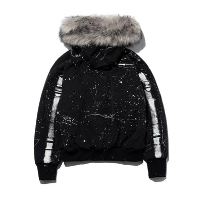 SS 'PaintxFur' Bomber Jacket with Fur