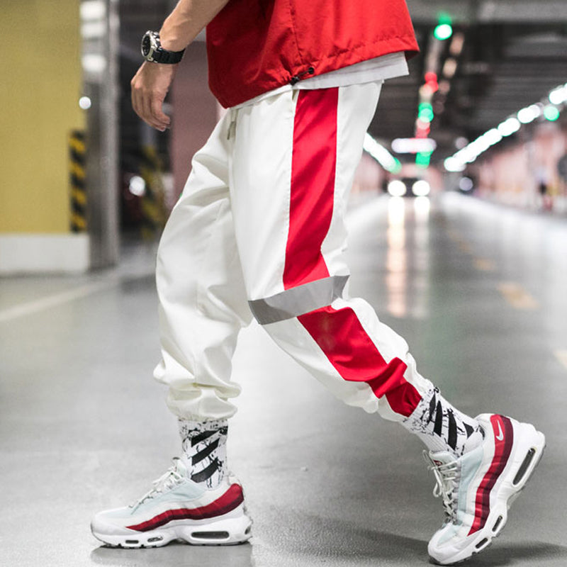 Side Striped Reflective Joggers