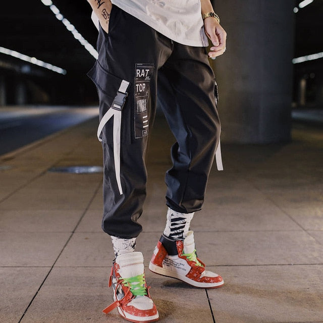'RAT TOP' Joggers (White/Black)