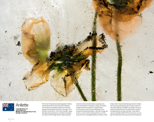 Anima Mea Series, Nikon Pro magazine, Floral photography by Anliette