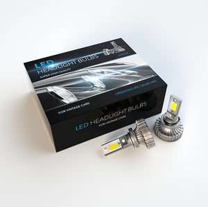 H4 lights LED upgrade for Classic Porsche 911 (Euro)