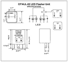 Load image into Gallery viewer, Led Flasher turn signal 12V