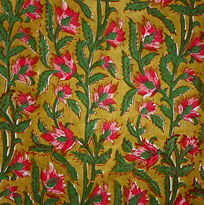Hand Block Printed Cotton Fabric From India