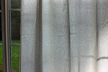 Load image into Gallery viewer, Hand Block Printed Cotton Window Panels from India