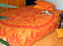 Load image into Gallery viewer, Hand Painted Batik Bedspread from India