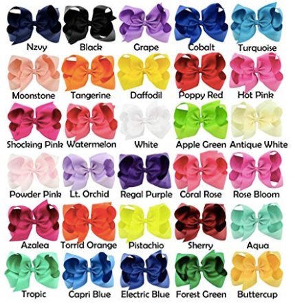 "30pcs Big 6"" Hair Bows"