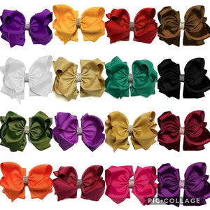 8 inch Double Stacked Bows Fall Colors