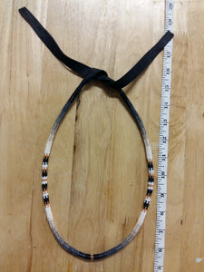 Beaded Necklace - Peyote Stitched - Black