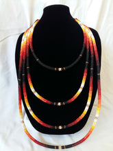 Load image into Gallery viewer, Beaded Peyote Stitched Statement Necklace - Iskotew (Fire) Design