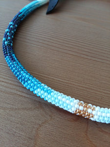 Peyote Stitched Necklace  - Blue