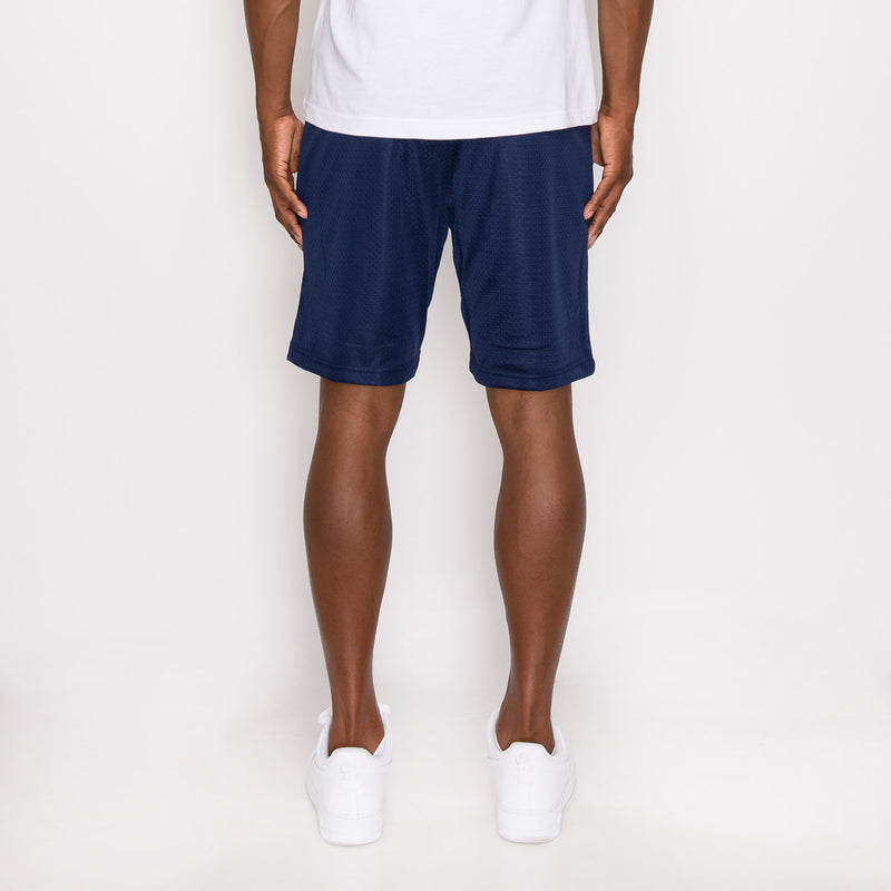 MESH BASKETBALL SHORTS - NAVY