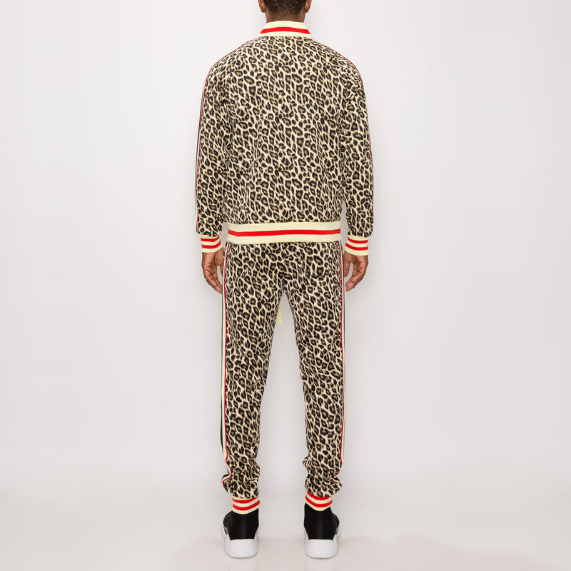 LEOPARD TRACK SUITS - BROWN