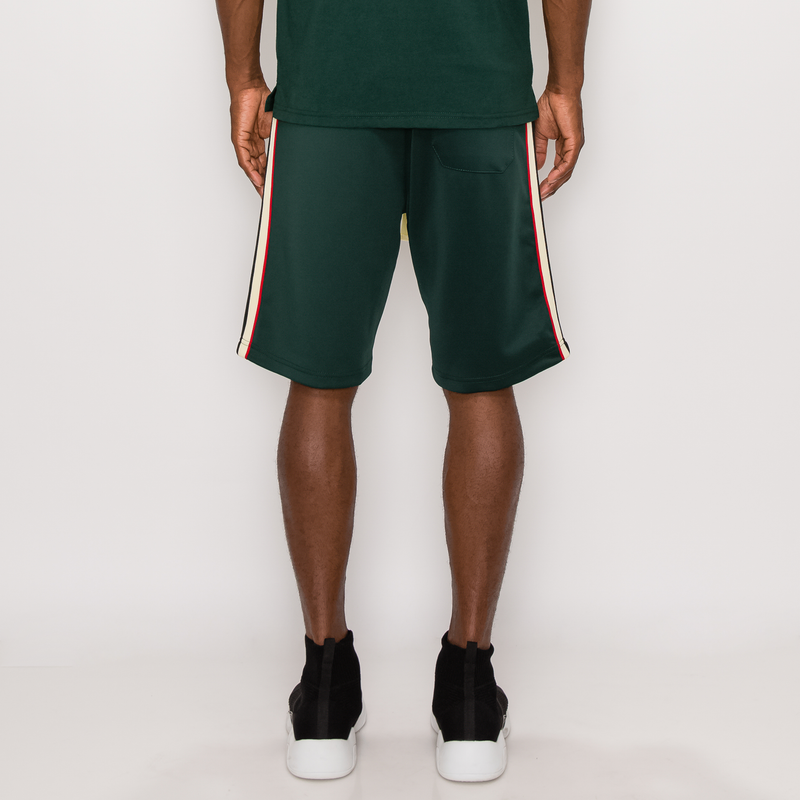 SIDE STRIPE TRACK SHORTS - GREEN