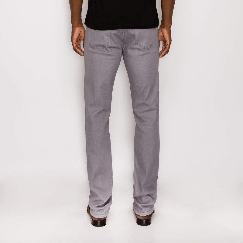 SLIM RAW DENIM JEANS - LT GREY