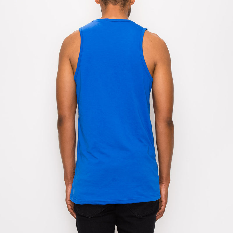 ESSENTIAL LONG LENGTH TANK TOP - ROYAL BLUE