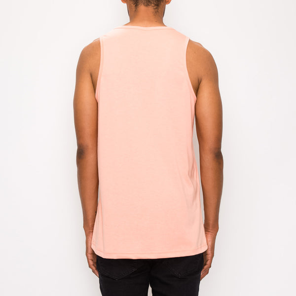 ESSENTIAL LONG LENGTH TANK TOP - CORAL