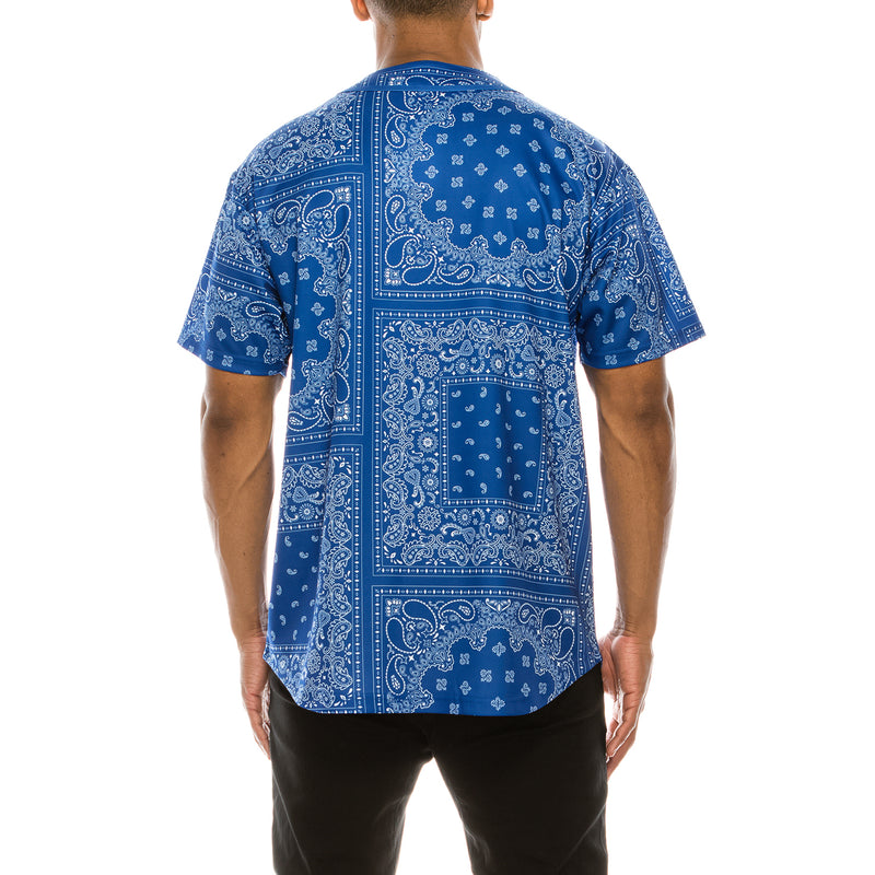 BANDANA BASEBALL JERSEY - ROYAL BLUE