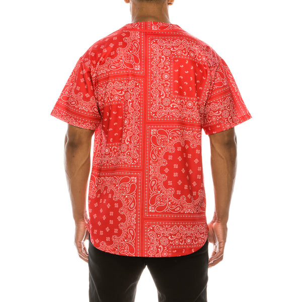 BANDANA BASEBALL JERSEY - RED