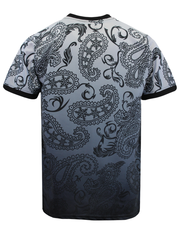 PAISLEY OMBRE T-SHIRTS - BLACK