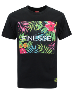 FINESSE FLORAL T-SHIRTS - BLACK