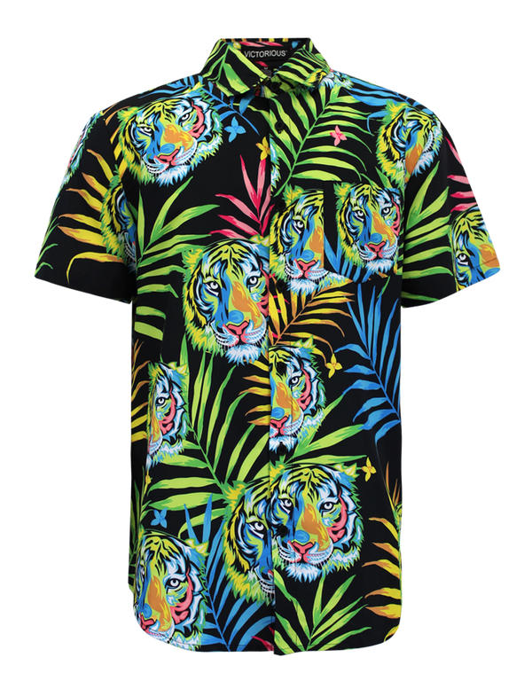 NEON TIGER SHIRTS - BLACK