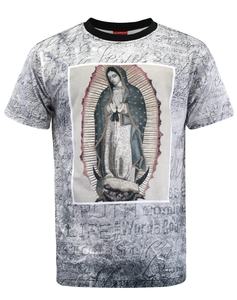 OUR LADY OF GUADALUPE T-SHIRT - BLACK