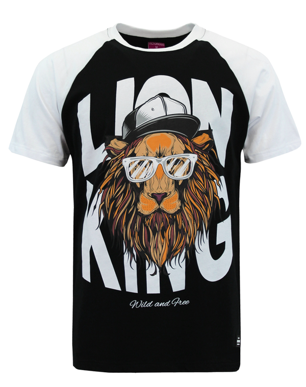 RAGLAN LION KING T-SHIRT - BLACK