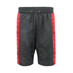 NYLON TRACK SHORTS - BLACK/RED