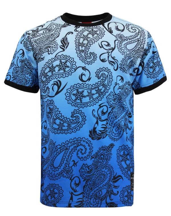 PAISLEY OMBRE T-SHIRTS - BLUE