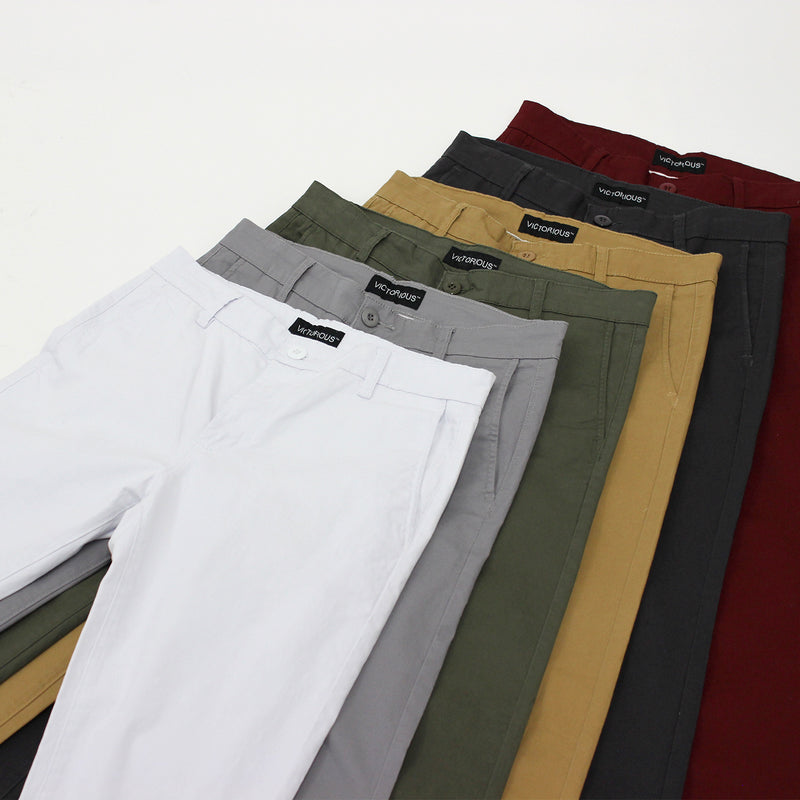 ESSENTIAL  CHINO PANTS  - KHAKI