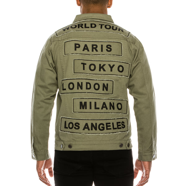WORLD TOUR COLORED DENIM JACKET -  JADE
