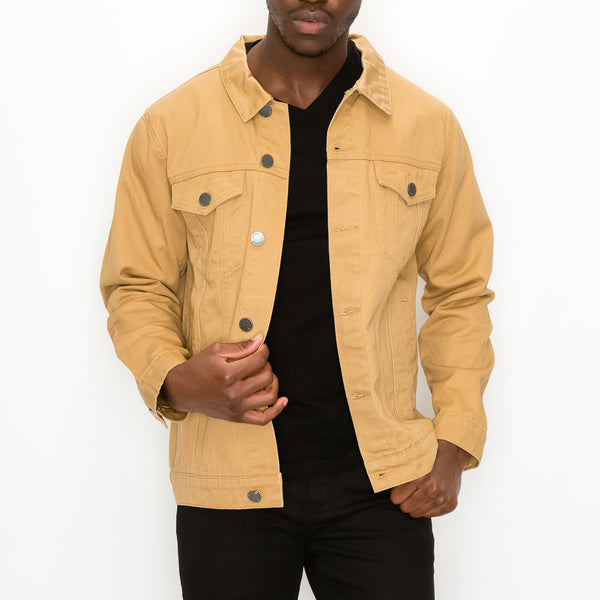 WORLD TOUR COLORED DENIM JACKET -  WHEAT