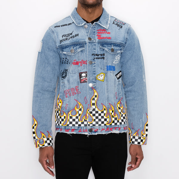 WE LIKE TO PARTY DENIM JACKET