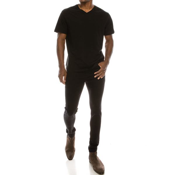 Ultra Stretch Denim Skinny Jeans - Worn Black
