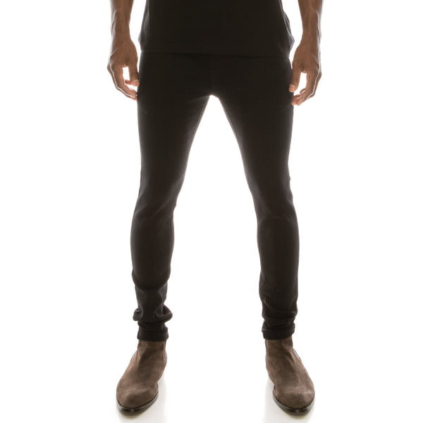 Super Skinny Denim Jeans - Worn Black