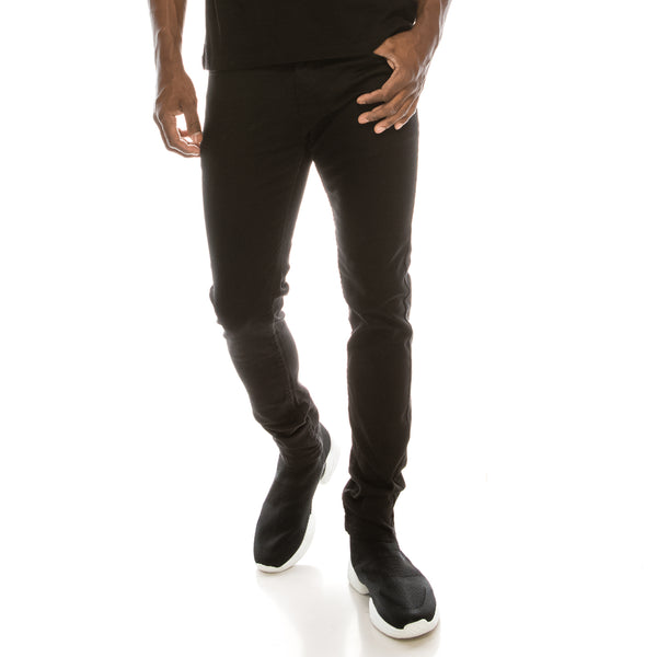 Ultra Stretch Colored Skinny Jeans - Jet Black