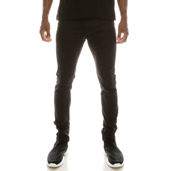 Ultra Stretch Skinny Colored Jeans - Jet Black