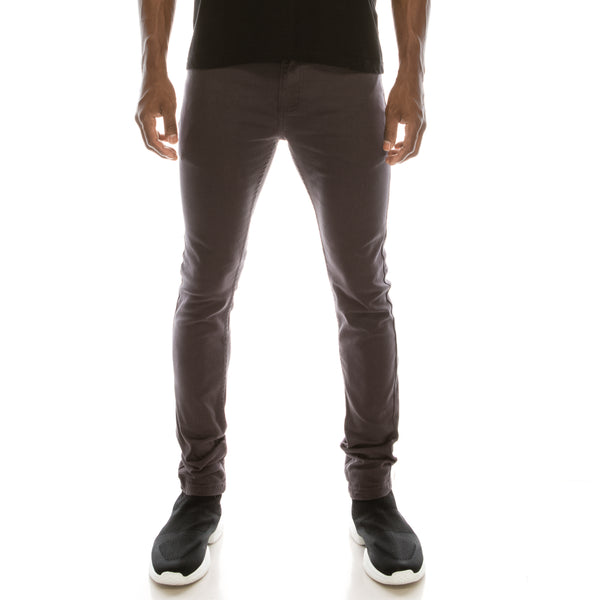 Super Skinny Colored Jeans - Charcoal