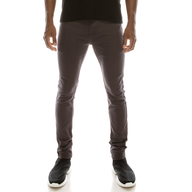 Ultra Stretch Skinny Colored Jeans - Charcoal